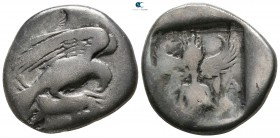 Elis. Olympia 448-432 BC. 83rd-87th Olympiad. Stater AR