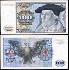 1980. Alemania Occidental. Banco Federal. 100 deutsche mark. (Pick 34d). 2 de enero, Master Sebastian Münster. S/C-.