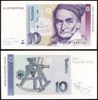 1993. Alemania Occidental. Banco Federal. 10 deutsche mark. (Pick 38c). 1 de octubre, Carl Friedrich. S/C.