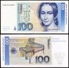 1991. Alemania Occidental. Banco Federal. 100 deutsche mark. (Pick 41b). 1 de agosto, Clara Schumann. Escaso. S/C.