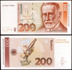 1989. Alemania Occidental. Banco Federal. 200 deutsche mark. (Pick 42). 2 de enero, Paul Ehrlich. Muy escaso. S/C-.
