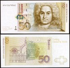 1996. Alemania Occidental. Banco Federal. 50 deutsche mark. (Pick 45). 2 de enero, Balthasar Neuman. S/C.