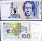 1996. Alemania Occidental. Banco Federal. 100 deutsche mark. (Pick 46). 2 de enero, Clara Schumann. S/C.
