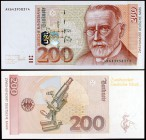 1996. Alemania Occidental. Banco Federal. 200 deutsche mark. (Pick 47). 2 de enero, Paul Ehrlich. S/C.