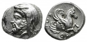Ionia, Achaemenid Period. Spithridates, Satrap of Lydia and Ionia, under Darius III. Circa 335-334 BC. AR Tetrobol (14mm, 2.97g). Head of satrap left,...