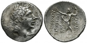 Kings of Bithynia. Nikomedes IV Philopator, 94-74 BC. AR Tetradrachm (30mm, 15.78g). Nikomedia, year 207 = 92/1. Diademed head of Nikomedes IV to righ...