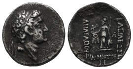 Kings of Cappadocia. Ariarathes VII Philometor, circa 116-101 BC. AR Drachm (17mm, 3.97g), RY 8 = 108/7. Diademed head of Ariarathes VII to right. / B...