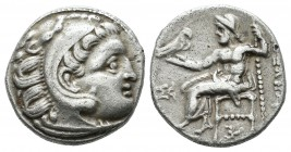 "Kings of Macedon. Alexander III ""the Great"". 336-323 B.C. AR Drachm (16mm, 4.30g). Kolophon, posthumously, under Philip III, ca. 318-310 BC. Head of H..."