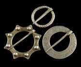 Medieval Silver Ring Brooches