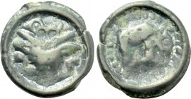 WESTERN EUROPE. Northeast Gaul. Remi (Circa 100-50 BC). Potin Unit.