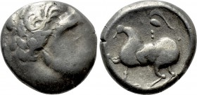"EASTERN EUROPE. Imitations of Philip II of Macedon. Tetradrachm (2nd-1st centuries BC). ""Baumreiter"" type."
