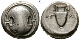 Boeotia. Thebes. ΑΓΛΑ- (Agla-), magistrate circa 363-338 BC. Stater AR