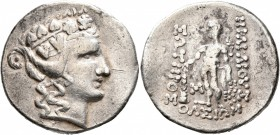 CELTIC, Lower Danube. Imitations of Thasos. Late 2nd-1st century BC. Tetradrachm (Silver, 31 mm, 16.67 g, 1 h). Celticized head of Dionysos to right, ...