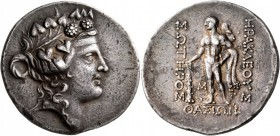 ISLANDS OFF THRACE, Thasos. Circa 168/7-148 BC. Tetradrachm (Silver, 34 mm, 17.00 g, 12 h). Head of Dionysos to right, wearing ivy wreath and taenia. ...