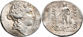 ISLANDS OFF THRACE, Thasos. Circa 148-90/80 BC. Tetradrachm (Silver, 35 mm, 16.69 g, 12 h). Head of youthful Dionysos to right, wearing ivy wreath and...