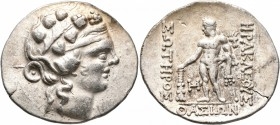 ISLANDS OFF THRACE, Thasos. Circa 148-90/80 BC. Tetradrachm (Silver, 34 mm, 16.64 g, 12 h). Head of youthful Dionysos to right, wearing ivy wreath and...