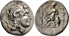 KINGS OF THRACE. Lysimachos, 305-281 BC. Tetradrachm (Silver, 31 mm, 17.08 g, 12 h), Lysimacheia, circa 225-200. Diademed head of Alexander the Great ...