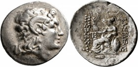 KINGS OF THRACE. Lysimachos, 305-281 BC. Tetradrachm (Silver, 32 mm, 16.86 g, 12 h), Kalchedon, circa 225-200. Diademed head of Alexander the Great to...