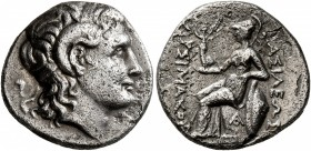 KINGS OF THRACE. Lysimachos, 305-281 BC. Drachm (Silver, 17 mm, 3.91 g, 12 h), uncertain mint in western Asia Minor, circa 297/6-282/1 BC. Diademed he...