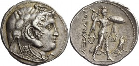 Ptolemies Kings of Egypt, Ptolemy I as satrap, 323 – 305. Tetradrachm in the name of Alexander III, Alexandria circa 310-305, AR 15.55 g. Diademed hea...
