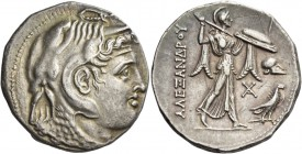 Ptolemies Kings of Egypt, Ptolemy I as satrap, 323 – 305. Tetradrachm in the name of Alexander III, Alexandria circa 310-305, AR 15.61 g. Diademed hea...