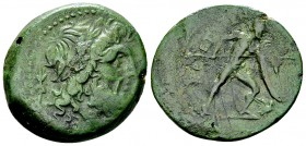 The Brettii, reduced AE Uncia, c. 211-208 BC 