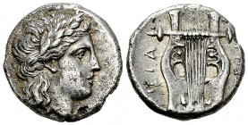 Megara Drachm, head of Apollo/lyra, impressive pedigree 