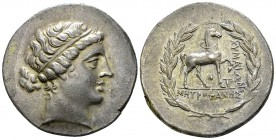 Kyme AR Tetradrachm, c. 165-140 BC 