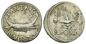 Marcus Antonius AR Denarius, LEG XIV 