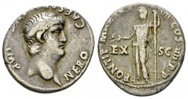 Nero AR Denarius, Lugdunum 