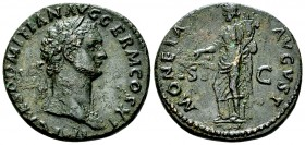 Domitianus AE As, Moneta reverse 