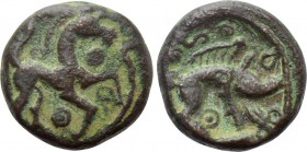 WESTERN EUROPE. Northeast Gaul. Ambiani (Circa 50 BC). Potin Unit.
