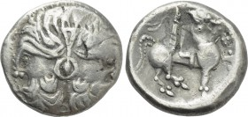 "EASTERN EUROPE. Imitations of Philip II of Macedon (3rd-2nd centuries BC). Tetradrachm. Uncertain mint in central Serbia. ""Doppelkopf"" type."