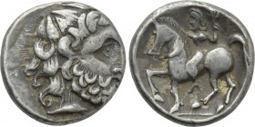 "EASTERN EUROPE. Imitations of Philip II of Macedon (2nd century BC). Tetradrachm. ""Zweigarm"" type."
