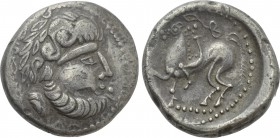 "EASTERN EUROPE. Imitations of Philip II of Macedon (2nd century BC). Tetradrachm. ""B-Reiter"" type."