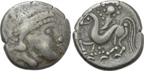 "EASTERN EUROPE. Imitations of Philip II of Macedon (2nd century BC). Tetradrachm. ""Velemer ohne Gesichtsrand"" type."