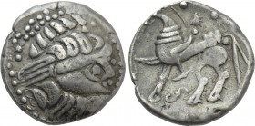 "EASTERN EUROPE. Imitations of Philip II of Macedon (2nd-1st centuries BC). Tetradrachm. Mint in the region of Velem, Hungary. ""Kapostaler"" type."