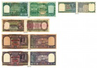 BANKNOTEN. Burma/Myanmar. British Administration. Reserve Bank of India. Lot. Diverse Jahre. 10 Rupees o. J. (1938). 1 Rupee o. J. (1945). 5 Rupees o....