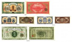 BANKNOTEN. China. Market Stabilization Currency. Lot. 100 Coppers 1915. Peking. Revers: Runder, violetter Stempel / Round lila Stamp.10 Coppers 1921. ...