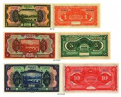 BANKNOTEN. China. Chinese Italian Banking Corporation. Lot. 1 Yuan. 5 Yuan. 10 Yuan. Alle 1921, 15. September. Pick S253-S255. -I / About uncirculated...