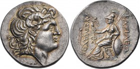 KINGS OF THRACE. Lysimachos, 305-281 BC. Tetradrachm (Silver, 30 mm, 16.95 g, 12 h), struck posthumously, Parion, c. 270s-250s BC. Diademed head of th...