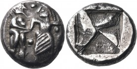 THRACO-MACEDONIAN REGION. Berge (previously identified as either Lete or Siris). Circa 525-480 BC. Stater (Silver, 20 mm, 10.07 g), probably minted c....