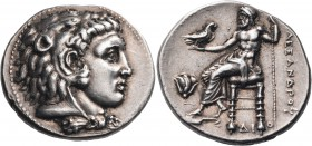KINGS OF MACEDON. Alexander III 'the Great', 336-323 BC. Tetradrachm (Silver, 28 mm, 17.24 g, 12 h), Memphis, c. 332-323. Head of youthful Herakles to...