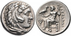 KINGS OF MACEDON. Alexander III 'the Great', 336-323 BC. Drachm (Silver, 15.5 mm, 4.33 g, 7 h), Sardes, circa 330/25-324/3. Head of youthful Herakles ...