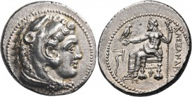 KINGS OF MACEDON. Alexander III 'the Great', 336-323 BC. Tetradrachm (Silver, 29 mm, 17.34 g, 7 h), Tarsos, c. 327-323. Head of youthful Herakles to r...