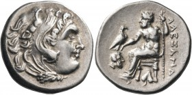 KINGS OF MACEDON. Alexander III 'the Great', 336-323 BC. Drachm (Silver, 18.5 mm, 4.19 g, 11 h), Abydos, 323-319. Head of youthful Herakles to right, ...