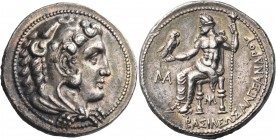 KINGS OF MACEDON. Alexander III 'the Great', 336-323 BC. Tetradrachm (Silver, 27 mm, 17.16 g, 10 h), struck under Philip III Arrhidaios, Myriandos, c....