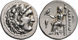 KINGS OF MACEDON. Alexander III 'the Great', 336-323 BC. Drachm (Silver, 18 mm, 4.35 g, 10 h), Magnesia, 319-305. Head of youthful Herakles to right, ...