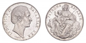 GERMANY: BAVARIA. Ludwig II, 1864-86. Taler ND (1865), Munich. 18.52 g. J-105; KM-877. Madonna type, no date. About uncirculated.