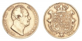 GREAT BRITAIN. William IV, 1830-37. Gold Sovereign 1836, London. 7.99 g. S-3829B. Good fine.